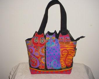 Laurel Burch Cats Bag Purse Tote