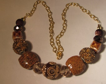 Beautiful Browns Beaded Necklace