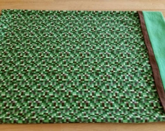 Set of 2 Minecraft inspired pillowcases