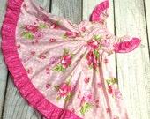 Rose Peasant Twirl Dress