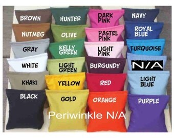 10 Corn hole bean bags for 25. Cornhole board bags with Clean Corn fill.  Birthday, Wedding or any occasion by Southsidebeanbags
