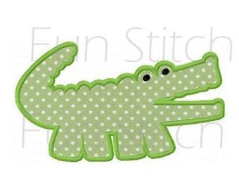 Alligaor applique machine embroidery design