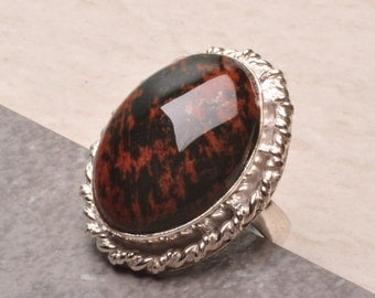 Red Obsidian Size 7 ring