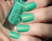 "Nail polish - ""Cubicle Gangster"" Bright green shimmer polish"