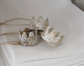 3 CARTAPESTA CRowns, French paper mache, Gilded Jewles crowns, Jeanne d arc Style