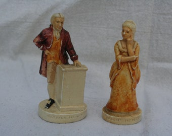 Patrick and Sarah Henry Miniature Figurines by P.W. Baston 1949