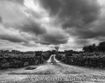 Black and White Stormy Sky Fine Art Photograph