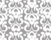 Grey and White Ikat Jersey Knit Fabric From Riley Blake Basics, 14 Inch BOLT END