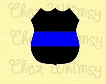 Blue Line Badge SVG, Thin Blue Line SVG, Support the Blue, Back the Blue, Police Officer Support, Back the Badge