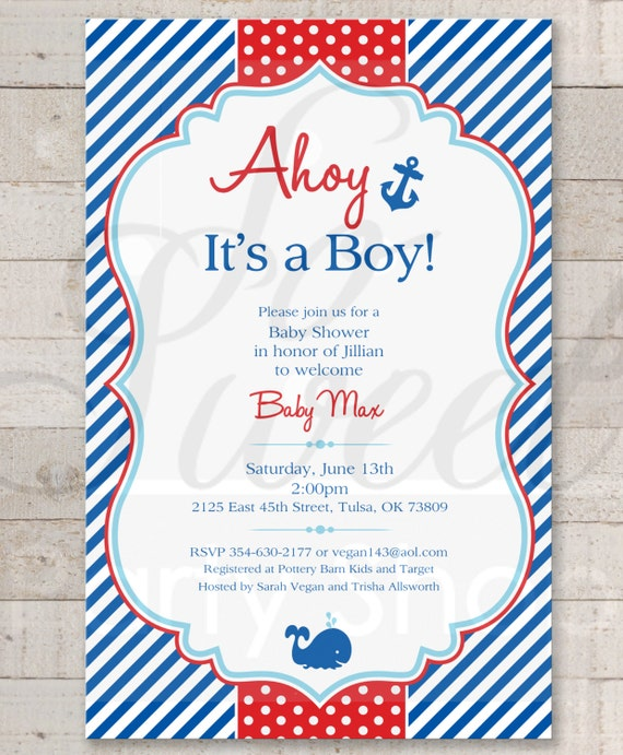 Nautical baby shower invitations boys baby shower invitations il570xn filmwisefo