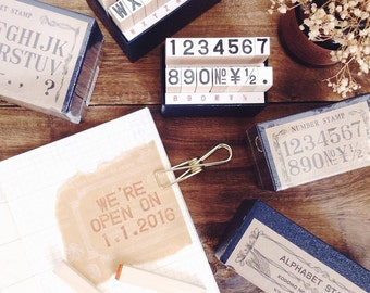 Kodomo No Kao Classic Stamp Set Alphabet & Number