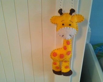 Gentle Giraffe Felt Ornament--2016 Fundraiser for Giraffe Conservation