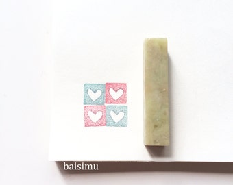 Customized small stone seal (square) / wax seal/ clay stamp/ pottery stamp/ pottery seal/ shapes/ custom made