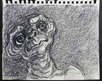 ET The Extra-Terestrial, 8.5 x 11 inches by Kenney Mencher