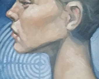 Profile, oil on canvas panel 11x14 inches Kenney Mencher