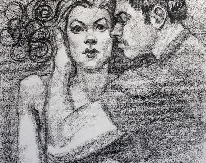 Sentiment,  crayon on acid-free sketchbook paper 8 and a half by 11 inches by Kenney Mencher