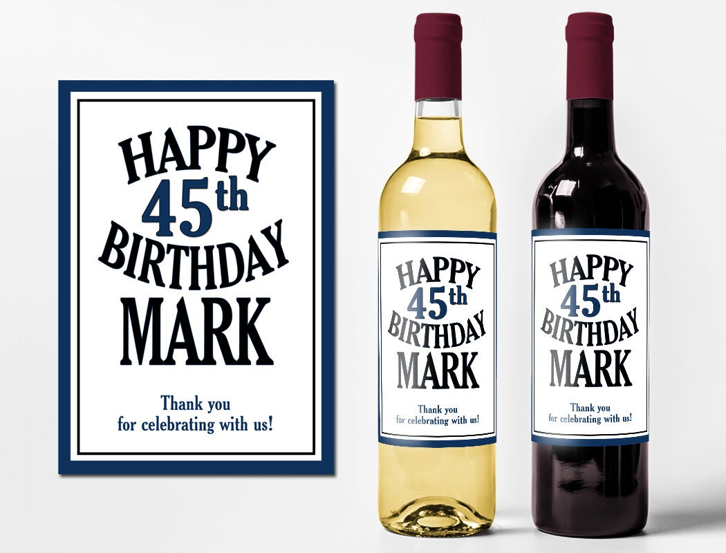 Custom Wine Bottle Labels Personalized Birthday Favors