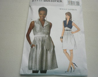 Pattern Ladies Dress 2 Styles Sizes 6 to 12 Butterick 5558