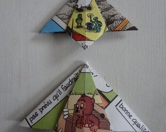 Petzi origami bookmarks