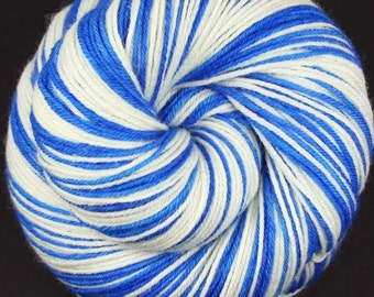 RESERVED for yarnandfiberobsessed - DODGERS Superwash Merino/Nylon self-striping fingering sock yarn
