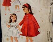 SALE 1950s Helen Lee Girls Inverted Pleat High Waistline Dress Empire Waist Coat Headband McCall's 4825  Size 2 Breast 21 Vintage Sewing Pat
