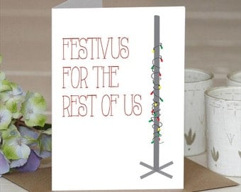 """Festivus for the Rest of Us Holiday Card, 5.5 x 4"""", Set of 10"""