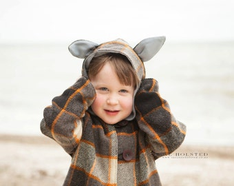 Wild Things Coat - PDF PATTERN -  Sizes 12m -14 years
