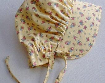 Baby Bonnet, Calico Sun Bonnet,  Pioneer Bonnet ,Baby Girl Bonnet, Toddler Bonnet -  Ready to Ship