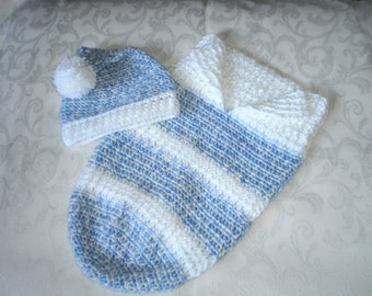 Newborn Snuggly Blueberry Cocoon Set