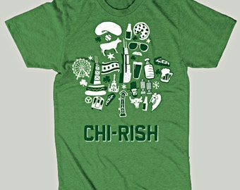 CHI-rish St. Patrick's Day Drink Chicago T-Shirt