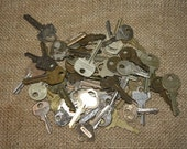 Vintage Keys - set of 50 - Supplies - Mixed Media Art - item #1225