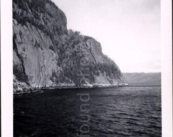 Vintage Photo, Lake, Mountains, Switzerland, Black & White Photo, Travel Landscape, Snapshot, Found Photo, Old Photo, Vernacular Photo