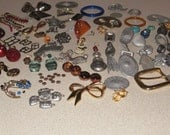 Over 100 pieces Collage, Steampunk, Craft, Mixed Media,  Metal, Findings, Beads, Baubles, Glass, Plastic, Abstract, Parts, Supplies