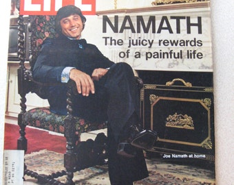 Life Magazine, November 3, 1972 - Jets' Joe Namath, football