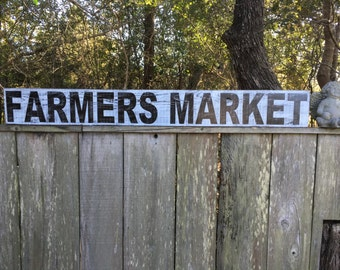 Farmers Market sign, Fixer Upper Inspired Signs,72x10, Rustic Wood Signs, Farmhouse Signs, Wall Décor
