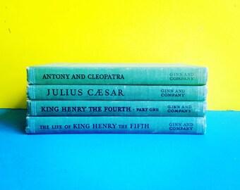Vintage William Shakespeare Pocket Sized Books - Set of 4 Julius Caesar, Anthony & Cleopatra, Henry the Eighth etc