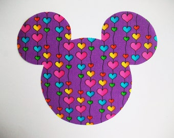 DIY Minnie Mouse Fabric Heart Applique