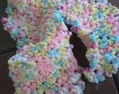 Creamy Cloud Crochet Fleece Scarf
