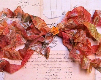 MAPLES Crinkled Cottage Ribbon