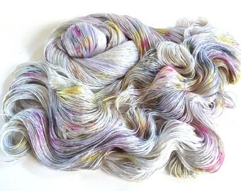 Evangeline Silk Bamboo Lace Yarn.  Pearly Moon