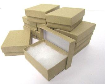 Kraft Boxes - 20 count (3.25 x 2.25 x 1) Cotton Filled Boxes