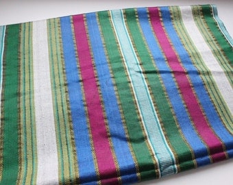 Uzbek traditional fabric Bekhasam. Vintage 46x130cm