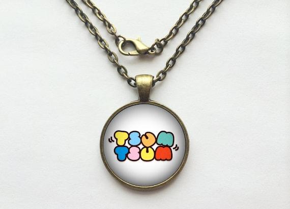 Tsum Tsum Logo Necklace or Keychain
