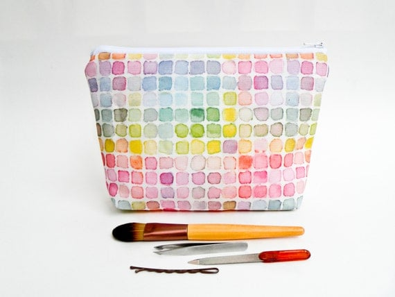Rainbow Watercolor Large Pencil Case -