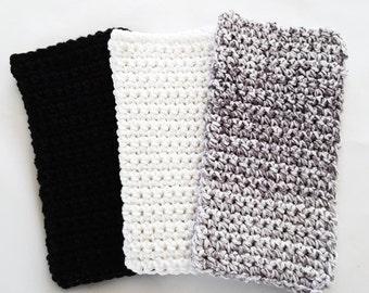 Crochet Wash Cloths Crochet Dish Cloths 100% Cotton Handmade Washrag Set of 3 Kitchen Dishcloths Facial Cloth Potholder
