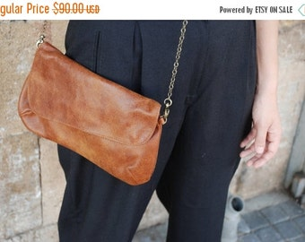 Summer SALE, Brown Leather Clutch Purse, brown leather bag, soft leather bag, Distressed leather purse, women leather bag, gift for her