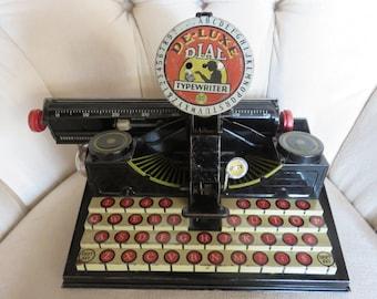 Marx Deluxe Dial Toy Typewriter