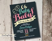 DIY Printable Oh Baby Baby Shower Invitation, Twins Baby Shower Invitation, Twins Invite, Oh Baby Invitation