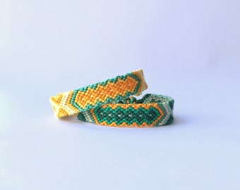 Two friendship bracelets