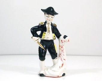 Vintage ceramic matador figurine / Bullfighter